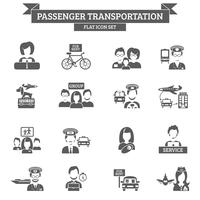 Icona di trasporto passeggeri