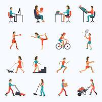 Icone di attività fisica vettore