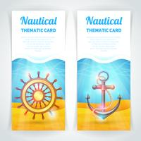 Set di bandiere marine vettore