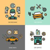Set di servizi automatico vettore