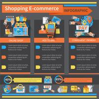 Shopping Infografica e-commerce vettore
