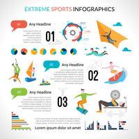 Infographics di sport estremi vettore