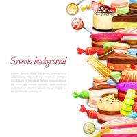 Sfondo di cibo dolce vettore
