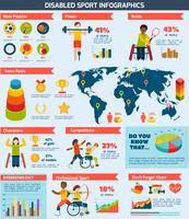 Infographics di sport disabili vettore