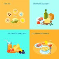 Piatto di cibo sano vettore