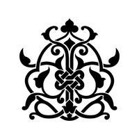 Tatuaggio arabo astratto vettore