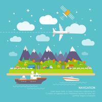 Poster di navigazione vettore
