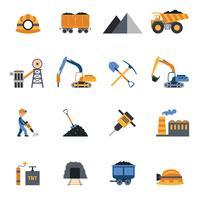 Icone dell'industria del carbone vettore