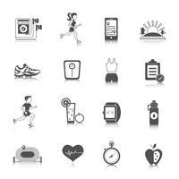 Icone da jogging nere vettore