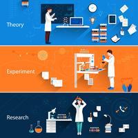 Banner orizzontale scienza vettore