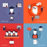 Istruzione superiore piatta vettore
