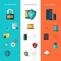 Banner di protezione dei dati verticale vettore