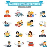 Icona di trasporto passeggeri piatto vettore