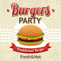poster festa di hamburger