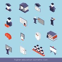 Set isometrico di istruzione superiore