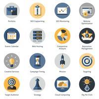 Set di icone di seo