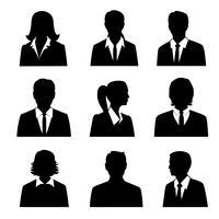Set di avatar aziendali vettore