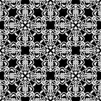 Modello bianco e nero senza soluzione di continuità in stile arabo o musulmano vettore