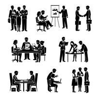 Icone di lavoro di squadra nere