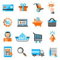 Set di icone di e-commerce vettore