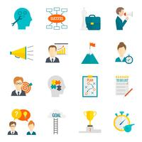 Coaching Business Icon piatto