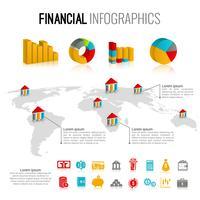 Set di infografica finanziaria