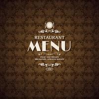 Modello di copertina del menu del ristorante caffè