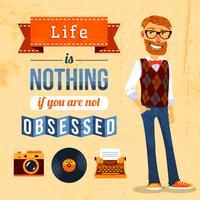 Poster di cultura hipster vettore