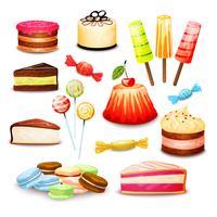 Set di cibo dolce vettore