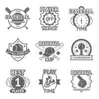 Emblemi di baseball impostati vettore