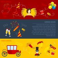 Set di banner piatto Carnevale