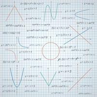 Sfondo di carta matematica vettore