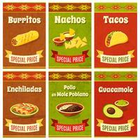 Poster di cibo messicano vettore