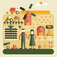 concetto di fattoria piatta