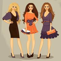 ragazza alla moda