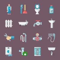 Set di icone di impianti idraulici