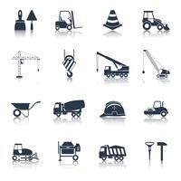 Icone di costruzione nere