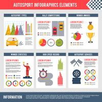 infographics di sport automobilistici vettore