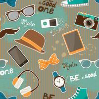 Elementi senza cuciture hipster