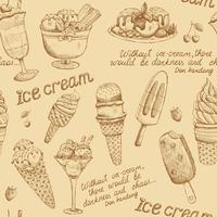 Modello vintage gelato vettore