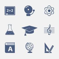 Elementi dell'interfaccia per il sito web dell'istruzione vettore