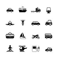 Raccolta di pittogrammi di trasporto vettore