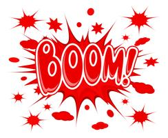 Icona di esplosione di boom vettore