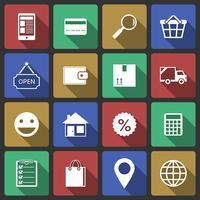 Set di icone dello shopping di internet