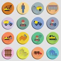 Set di icone piane di costruzione