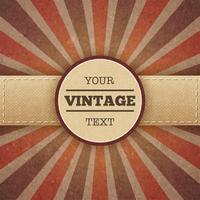 Poster promo vintage sunburst