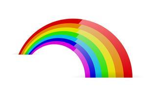 Simbolo arcobaleno astratto