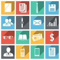 Set di icone di affari piatta