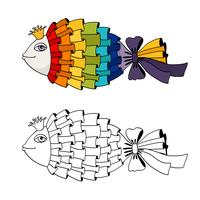 Colorazione pesci arcobaleno vettore