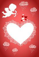 Poster o cartolina di San Valentino Cupido vettore